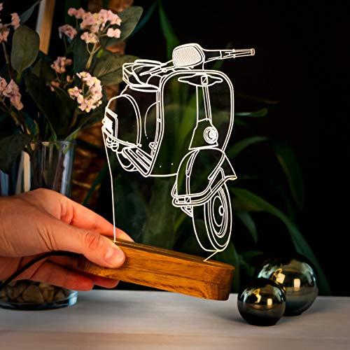 3D Illusion Nachtlampe 3D Nachtlicht, Acryl, Geschenk für Ihre Menschen. LED Tischlampen mit verschiedenen Formen.