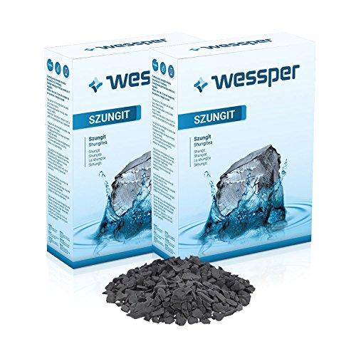 WESSPER Schungit Shungit NATÜRLICHER WASSERFILTER, Rohsteine Wassersteine 1 kg