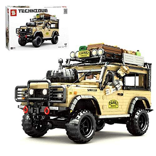 BGOOD Bloques de construcción para vehículos todoterreno, camión, 4631, bloques de sujeción, tecnología Off-Roader Truck modelo de coche, compatible con Lego Technic