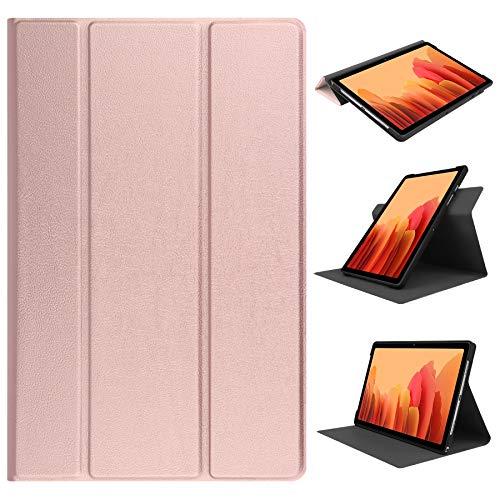 HoYiXi Funda de Soporte Giratorio para Samsung Galaxy Tab A7 10.4-Inch Rotación de 360 Grados Funda Smart Cover para Samsung Galaxy Tab A7 10.4 2020 T500/T505 - Gold
