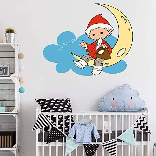 3D Wolkensticker Wand Kinderzimmer Wandtattoo Mond Schlafzimmer Tatoos für Kinder