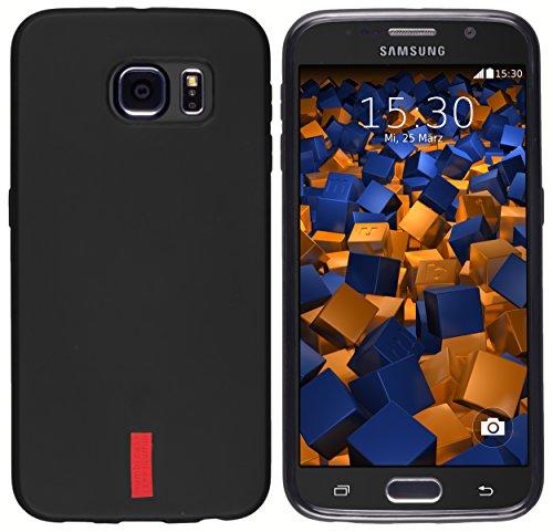mumbi Hülle kompatibel mit Samsung Galaxy S6 / S6 Duos Handy Case Handyhülle, schwarz