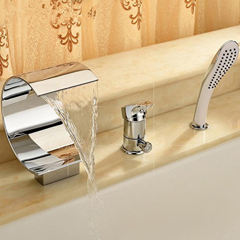 Bad Wasserfall Wasserhahn drei-Satz Kupfer heien und kalten Wasserhhne Sit-Typ Taps-A