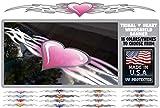 East Coast Vinyl Werkz Tribal Heart Windshield Decal Window Banner Choose from 16 Styles for car, Truck, Tailgate (Pink)