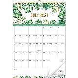 Calendario 2021-2022 – Calendario mensual de pared con papel grueso, 43,8 x 30,8 cm, enero de 2021 a junio de 2022, bloques grandes con fechas julianas, encuadernación de doble alambre,
