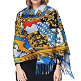 Bavaria Bavarian Flag1 Cashmere Scarf Fashion Long Shawl with Fringed Edges Super Soft Warm Cozy Light Blanket Scarves Wrap Ultra Warm Winter Accessories Gifts For Men And Women