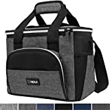 OPUX Insulated Collapsible Soft Cooler 9 Quart   Lunch Bag for Men, Small Travel Cooler for Camping, Family, BBQ, Picnic, Beach, Car, Soft-Sided Leakproof Lunch Box for Work   Fits 16 Cans (Charcoal)