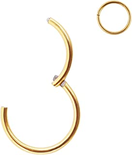 Best seamless gold septum ring Reviews
