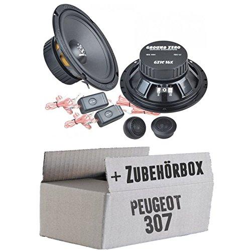 Ground Zero GZIC 16X - 16cm Lautsprecher System - Einbauset für Peugeot 307 - JUST SOUND best choice for caraudio