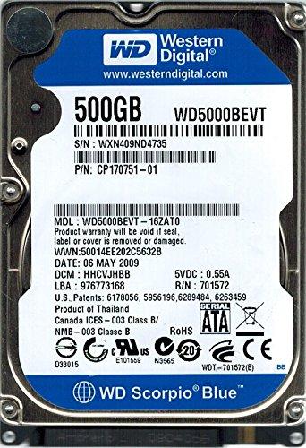 Western Digital wd5000bevt-16zat0DCM: hhcvjhbb 500GB
