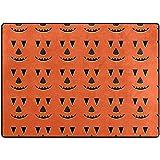 Sesily - Alfombra suave para suelo de moqueta con diseño de calabaza de Halloween para dormitorio o salón