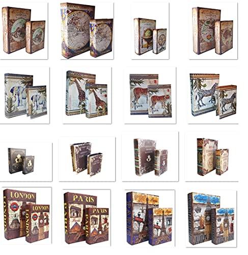 Kit Porta Livros 2 Peças em Madeira GRANDE e MEDIO Diversos Modelos (Sherlock Holmes - Arthur Conan)