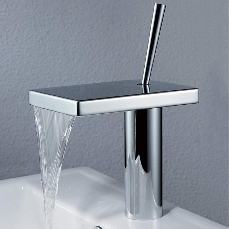 LSYR Wasserfall Waschbecken Wasserhahn hei und kalt mischen Waschbecken Einlochmontage Wasserhahn Bad Wasserhahn