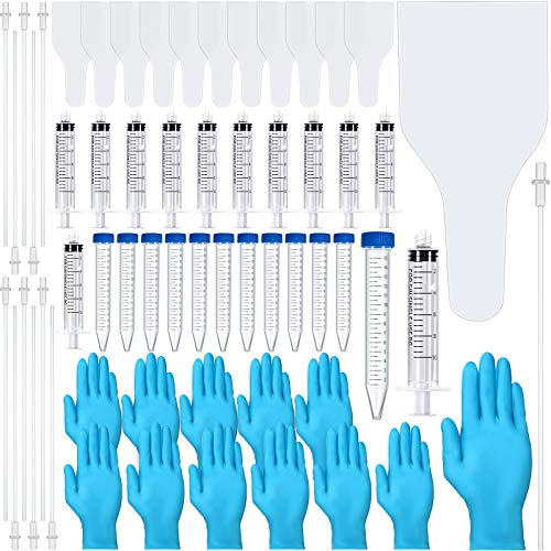 Weewooday 60 Pieces AI Artificial Insemination Dog Breeding Kit Artificially Inseminate Dog Kit Disposable Canine Artificial Insemination Cones Dog Semen Collection Bag for Dog Pet Breeding
