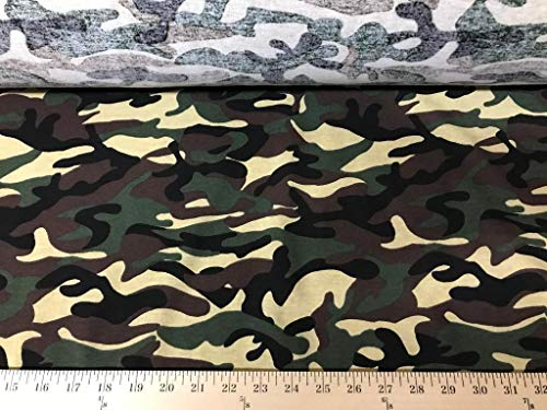 100% Cotton Camouflage Jersey Knit Fabric Light Weight