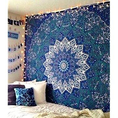 Large Indian Mandala Tapestry Hippie Tapestry Wall Hanging Throw Bedspread Dorm Tapestry Kaleidoscopic Star Tapestry Wall Hanging Picnic Beach Sheet Coverlet
