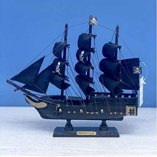 Modelo de velero Clásica Miniatura del Barco de Vela Barco de Vela de Madera Regalo de los niños Modelo Negro Perla Barcos Home Decor Craft
