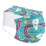 MaNMaNing Niños Protección 3 Capas Transpirables con Elástico para Los Oídos Pack 50 unidades 202007...