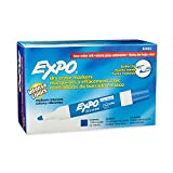EXPO Low-Odor Dry Erase Markers, Bullet Tip, Blue, 12-Count