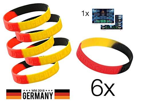 TK Gruppe Timo Klingler 6X Fanarmband Armband Silikonband Band Deutschland Silikon Mitgebsel Giveaway Mitbringsel Kinder Kindergeburtstag Fussball Fußball