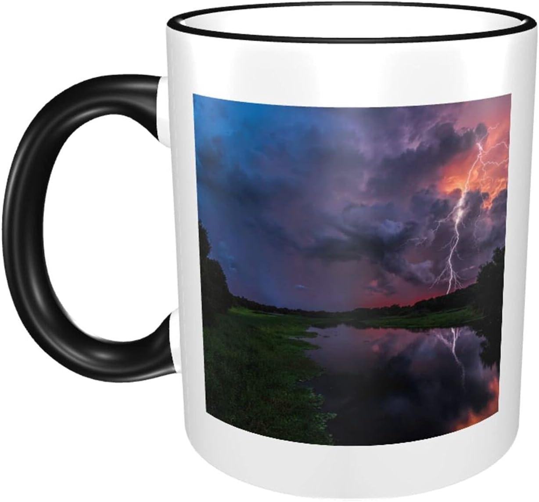 Lightning 11oz Large Coffee Limited time sale Mugs Exqui Print Sturdy Ceramics Arlington Mall Cup