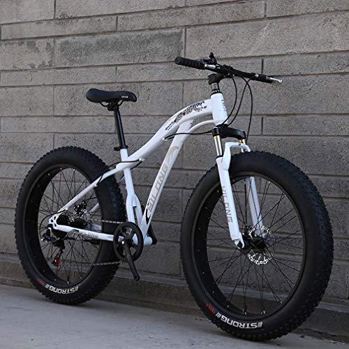 AISHFP 24 Pulgadas Fat Tire Bicicletas de montaña para Adultos, Playa Moto de Nieve, Bicicletas de Doble Freno de Disco Crucero, Bicicleta de montaña para Hombre