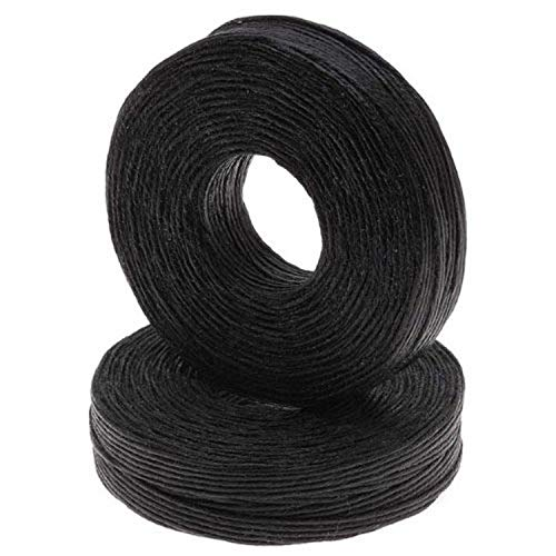1mm Waxed Irish Linen Necklace / Knotting Cord, Black