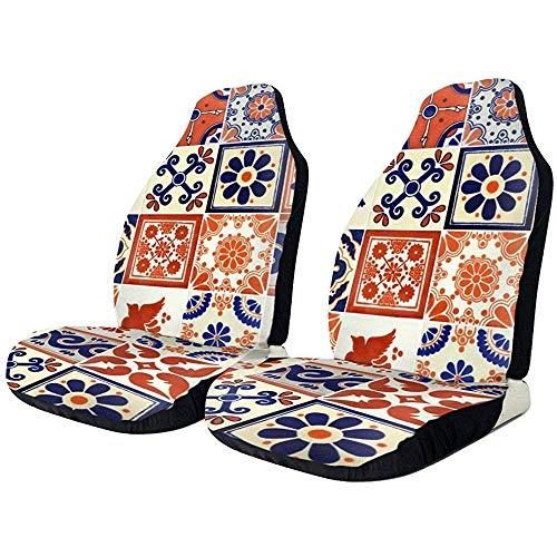 2 stuks keramische Marokkaanse Mexicaanse talavera tegels auto voorstoelen omvat alleen beschermhoezen universeel voor limousine truck SUV Van