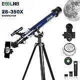 ESSLNB Telescopio Astronomico Profesional con Trípode Ajustable y Adaptador de Telefono 60mm Lente Completamente...