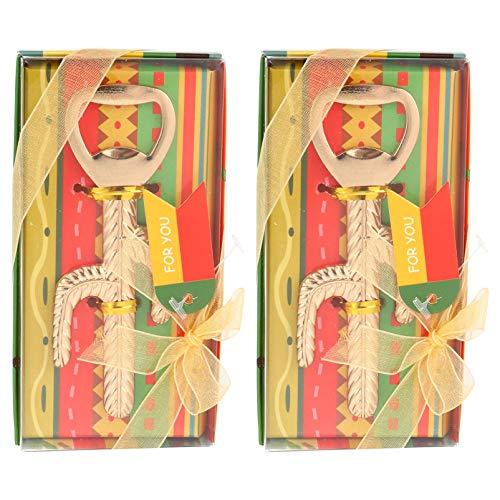 Hemoton 2Pcs Abridor de Botellas de Cactus de Metal Cerveza Dorada Abridor de Vino Removedor de Tapas de Botella de Hierro Favores de Fiesta Mexicanos para Invitados Recuerdos de Fiesta