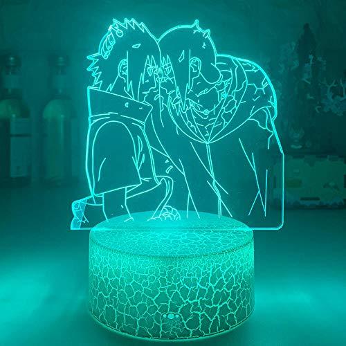 3D Nacht Lampe Illusion Lampe Acryl 3D-Lampe OROCHIMARU-Figur Nachtlicht für Kinder Schlafzimmer Dekor Cooles Kind Geschenk Zimmer Schreibtischlampe Anime LED Nachtlicht ZMSY