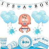Baby Shower Decoracion Set - Para un Its a Boy Niño Fiesta (20 Personas)