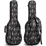 CAHAYA Bolsa Guitarra Electrica Funda para Guitarra Electrica Acolchada de 6mm con 2 Bolsillos para Libros de Música y Accesorios 3 Formas de Transporte Diseño Unico de Esqueleto