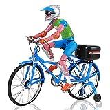 FECAMOS Juguetes De Bicicletas, Juguete Modelo De Bicicleta Segura para Juguetes para Niños(Azul, Bicicleta eléctrica)