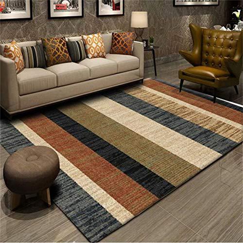 Alfombras mullidas, decoración del hogar de la sala de estar alfombra de pelo corto, diseño geométrico moderno dormitorio grande alfombra-Xjz-42_120*180cm