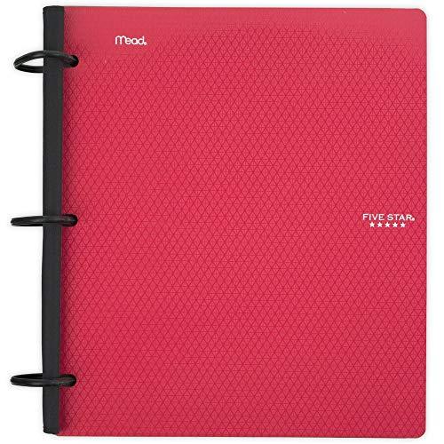 Five Star Flex Hybrid NoteBinder, 1 Inch Binder, Notebook and Binder All-in-One, Red (29328AB2)