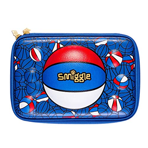 Smiggle Bball - Estuche rígido para lápices de baloncesto para niños