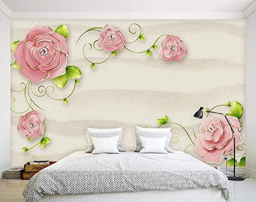 Einfach Fototapete 3D 430Cmx300Cm Geprägte Rose Blume Reben Tapeten Wandtapete Wand Dekoration Für Wohnzimmer Schlafzimmer
