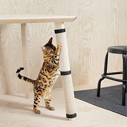 GWFVA Meubelsteun voet 63×25cm natuurlijke sisal tafel been beschermer kat krasplank kan worden vastgesteld tafelpoten jute kat klimmat
