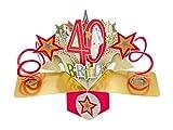 Second Nature pop UPS biglietto di compleanno 40°...