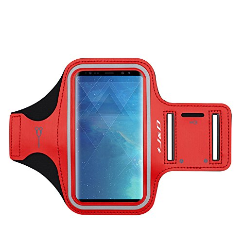 JD Compatible para Samsung Galaxy S10/S10e/S8/S9/S7 Edge/A40 Brazalete Deportivo para Correr, Ranura para Llaves, Conexión Auriculares Mientras Ejercicios y Carreras