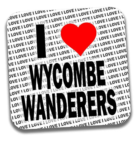 I Love Wycombe Wanderers Drinks Coaster - Gift - Birthday - Christmas - Stocking Filler