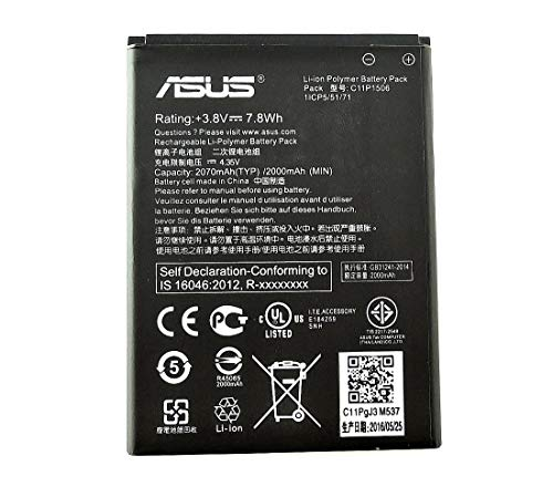 Mltrade C11P1506 - Batteria originale Asus per Asus Zenfone Go ZC500TG, 2070 mAh, senza confezione al dettaglio
