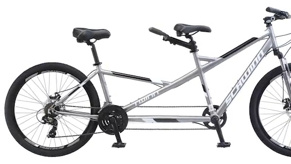"Brand New Schwinn Twin Tandem 26/"" Wheel Bicycle Grey One Frame Size"