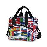 All3DPrint International Country Banderas del Mundo Bolsa de picnic aislada lonchera suave enfriador bolsa 19 latas