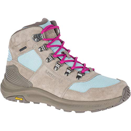 Merrell Womens Ontario 85 Mesh Mid WP Hiking Boot, Brindle/Canal - 7.5 M