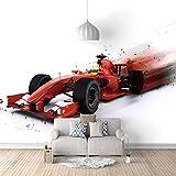 JFSZSD Fototapeten Rennwagen 200CMx140CM 3D-Tapete Wohnzimmer Schlafzimmer Wandbild Wanddeko Abstrakte