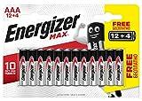 Energizer Max Batterien AAA, 16 Stück
