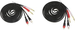 figatia 2 Unidades de Cabo de áudio Macho de 6,5 Mm para Cabeça de áudio Dupla Lótus Macho RCA