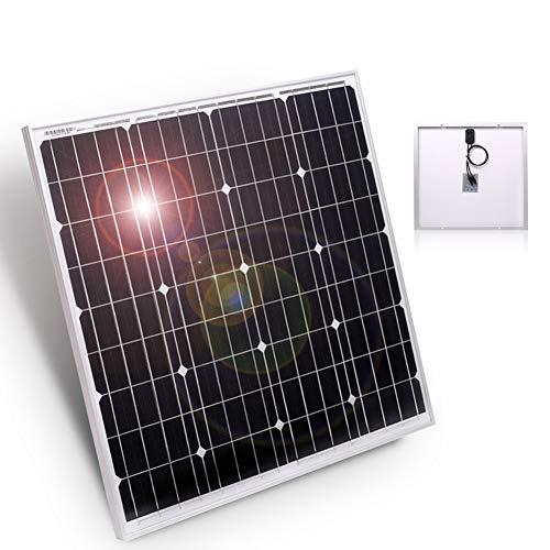 DOKIO Panel Solar 50W Monocristalino 12V Módulo solar para casas jardines caravanas bombas